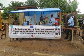 Centre de traitement Ebola de l'hôpital de Beni, province du Nord-Kivu, RD Congo.
