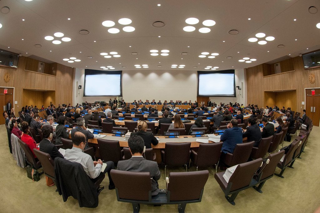 Delegates of the General Assembly's Fifth Committee (Administrative and Budgetary) meet to consider the UN Proposed Programme Budget for 2016-2017.