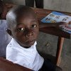 On 12 September 2018 in Beni, Kambale, 7 years old, attends school in the Ndindi neighborhod of Beni, Democratic Republic of Congo, which has been hit by an Ebola epidemic.  There he learned that washing his hands is a good way to prevent Ebola.