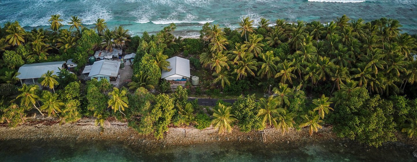The South Pacific archipelago of Tuvalu is highly susceptible to rises in sea level brought about by climate change.