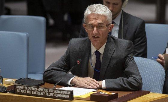 Subsecretário-geral para os Assuntos Humanitários, Mark Lowcock, no Conselho de Segurança