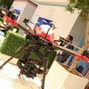 A drone on display in the exhibition area at the UN World Data Forum in Dubai, United Arab Emirates.  23 October 2018.