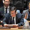 Le Président de la Mission internationale indépendante d'établissement des faits au Myanmar, Marzuki Darusman devant les membres du Conseil de sécurité le 24 octobre