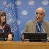مؤتمر صحفي للمقرر الخاص للأمم المتحدة المعني بحقوق الإنسان في الأرض الفلسطينية المحتلة منذ عام 1967.