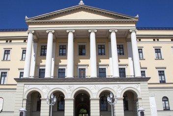 位于奥斯陆的挪威皇宫。