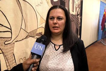 رجاء التلي مديرة مركز المجتمع المدني والديمقراطية، تتحدث إلى إذاعة الأمم المتحدة