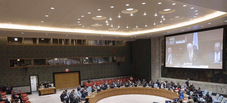 Enviado especial da ONU para informou o Conselho de Segurança sobre a Síria.