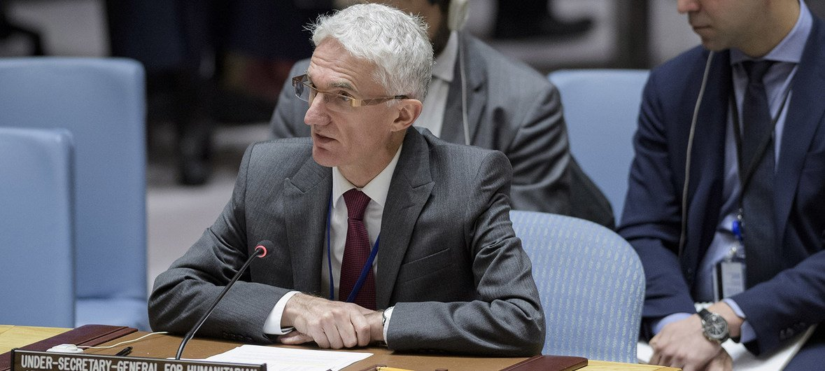UN Emergency Relief Coordinator Mark Lowcock briefs the Security Council on the situation in Syria