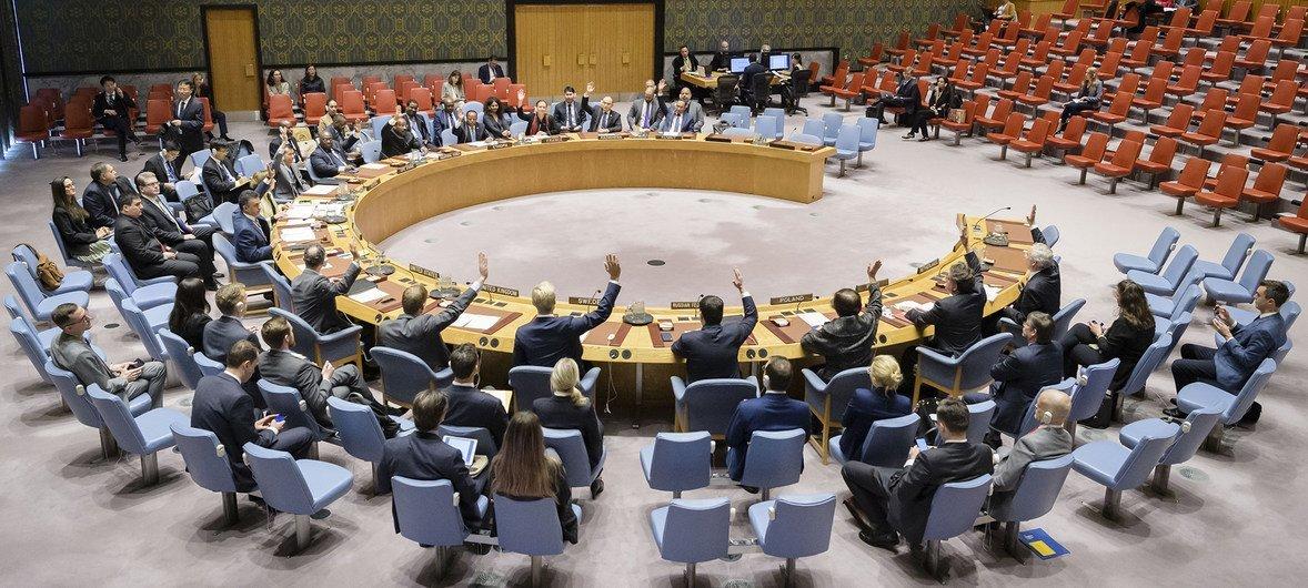 Le Conseil de sécurité de l'ONU en octobre 2018.