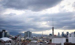 मैक्सिको सिटी का एक दृश्य.