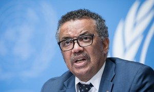 Diretor-geral da Organização Mundial da Saúde, OMS, Tedros Ghebreyesus.