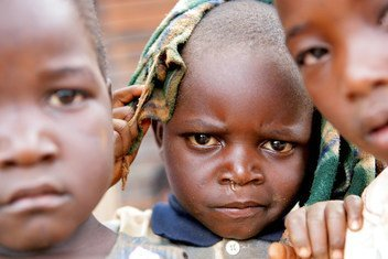 Children form an Early Childhood Development Cneter in Zimbabwe, where most come from impoverished families affected by HIV and Aids.  2011.