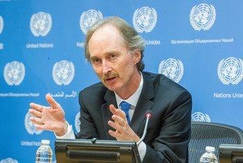 Гейр О.Педерсен на пресс-конференции в штаб-квартире ООН