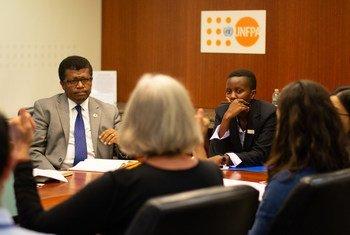 Zahara, uma jovem do Uganda de 19 anos, foi diretora-executiva do Fundo de População da ONU, Unfpa, esta quarta-feira para marcar o Dia Internacional da Menina.