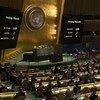 نتيجة التصويت في الجمعية العامة على ضرورة رفع الحظر الاقتصادي والتجاري والمالي المفروض من قبل الولايات المتحدة الأمريكية على كوبا.
