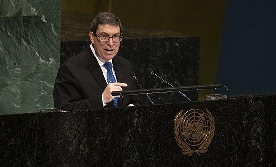 O ministro das Relações Exteriores de Cuba, Bruno Eduardo Rodríguez Parrilla, afirmou que o embargo viola propósitos e princípios da Carta das Nações Unidas e do direito internacional.