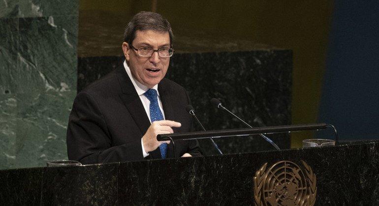 Bruno Rodríguez Parrilla, ministro de Relaciones Exteriores de Cuba, en la Asamblea General