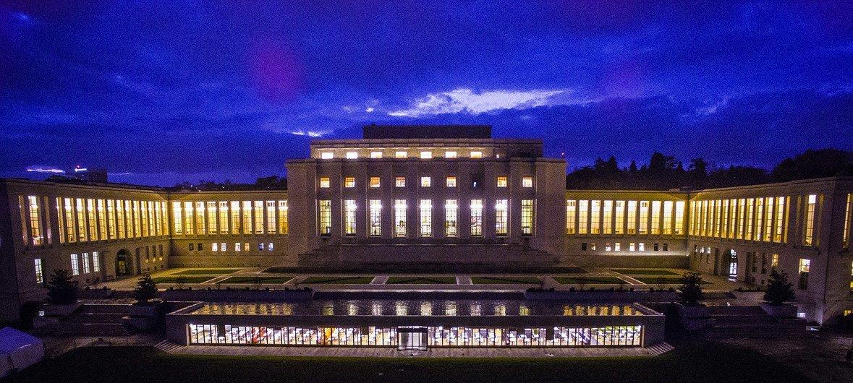 El Comité de Derechos Humanos de la ONU se reúne en la sede de la ONU en Ginebra.
