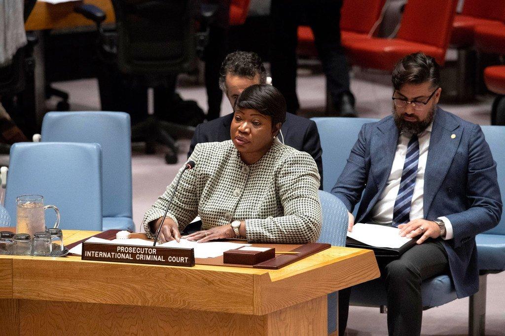 La Procureure de la Cour pénale internationale (CPI), Fatou Bensouda devant le Conseil de sécurité