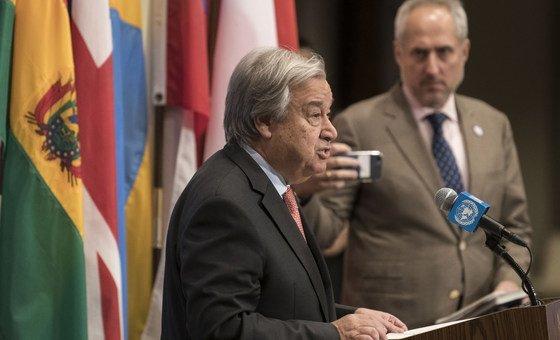 Em nota emitida pelo seu porta-voz, Guterres pede acesso da ONU às zonas necessitadas.