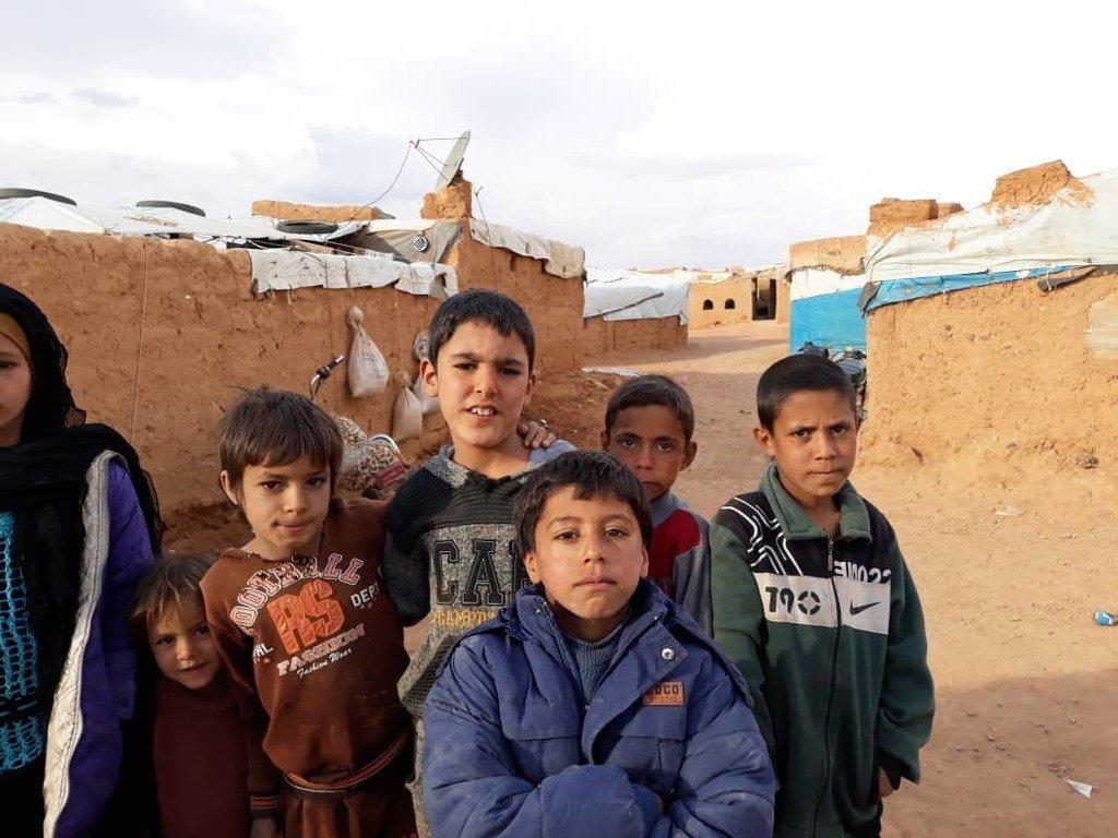 叙利亚东南部的拉克班(Rukban)难民营
