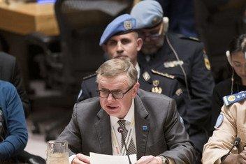 Помощник Генерального секретаря по вопросам правосудия и верховенства права Александр Зуев выступает в Совете безопасности ООН