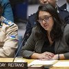 Tuesday Reitano, Global Initiative Against Transnational Organized Crime, addresses the Security Council meeting on United Nations peacekeeping operations. 6 November 2018.