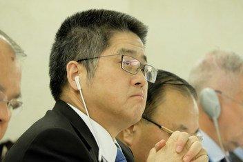 中国外交部副部长乐玉成出席11月6日举行的审议会议。