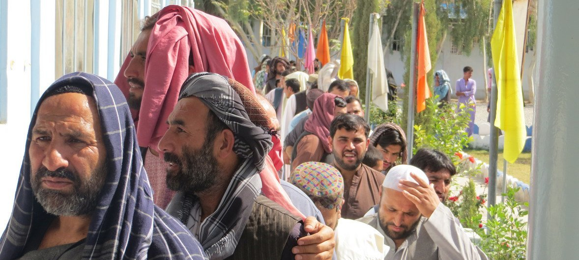 ONU defende um processo de paz inclusivo e liderado pelo Afeganistão.