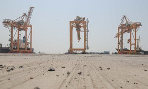 The port of Hudaydah in war-torn Yemen, is one of the few lifelines for humanitarian aid and fuel into the country.