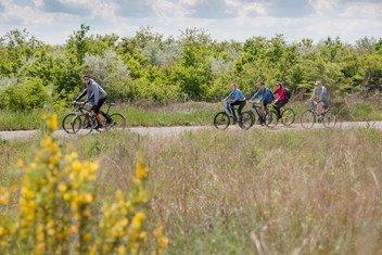 乌克兰东南部由联合国开发署协助建设的自行车道。