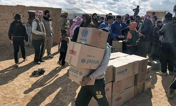 Número não inclui os valores necessários para a Síria, que serão confirmados após o Plano de Resposta Humanitária da Síria de 2019 terminar