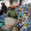 Women in Hoi An in Viet Nam have set up a waste management plan which not only recycles waste but also provides them with an income. (April 2017)