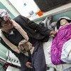 """في مستشفى السبعين للأمهات في صنعاء، يوفر برنامج الأغذية العالمي المكملات الغذائية لعلاج """"علي"""" ذي السنوات الخمس والذي يعاني سوء التغذية الحاد الوخيم. 11 نوفمبر 2018."""