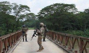 MONUSCO peacekeepers in Beni territory, North Kivu, Democratic Repbulic of the Congo.