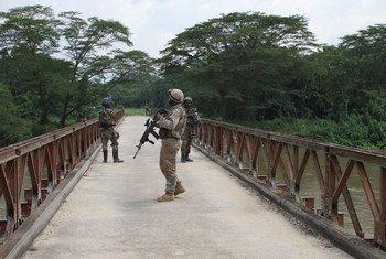 Askari wa MONUSCO wakishika doria mashariki mwa DRC.