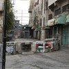 Point de contrôle vers la zone militaire israélienne fermée dans la zone H2 à Hébron, en Cisjordanie.