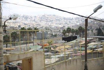 近东救济工程处位于约旦河西岸以色列军事区内的库尔图巴难民学校。