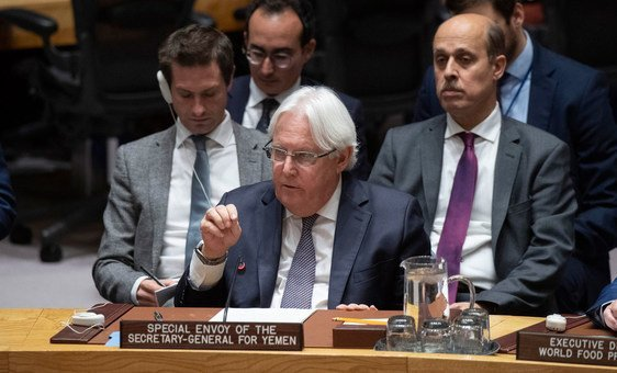 Martin Griffiths, Special Envoy of the Secretary-General for Yemen, briefs the Security Council on the situation in the country.