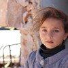Una niña siria en un campamento en el pueblo de Zeyarah, al norte del Alepo.