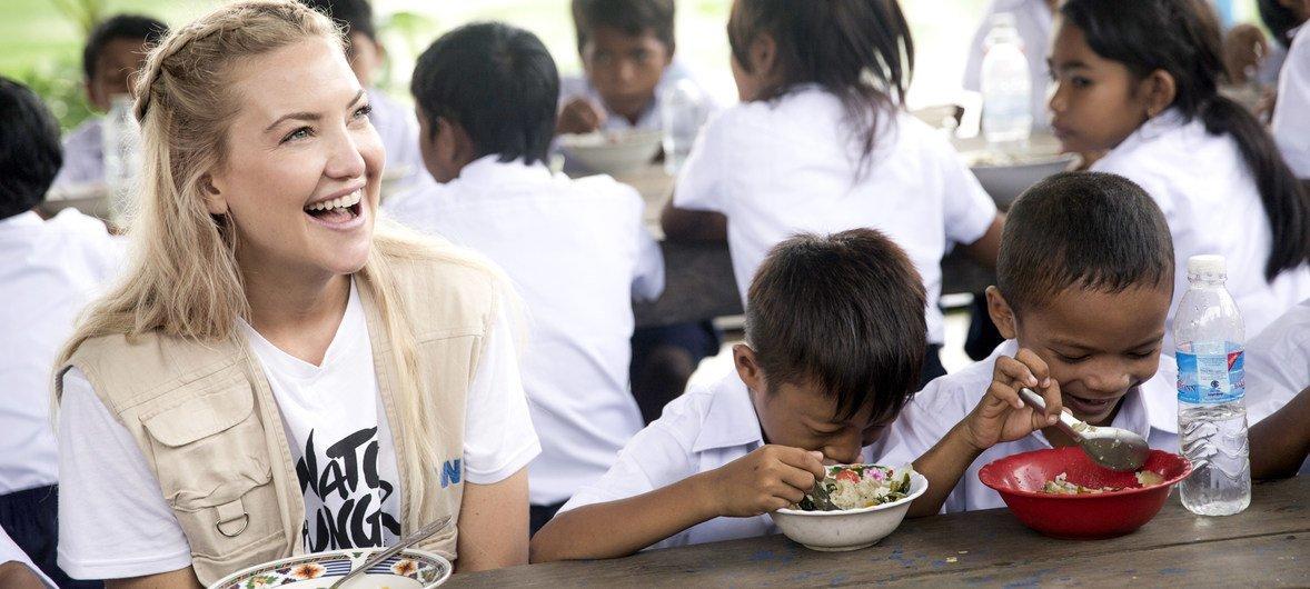 Kate Hudson nommée ambassadrice de bonne volonté du Programme alimentaire mondial des Nations Unies