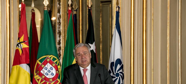 António Guterres participou no Brasil numa conferência da Cplp, em 2016