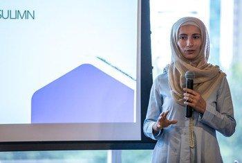Encontro reuniu cerca de 50 mulheres em situação de refúgio para abordar temas como empreendedorismo e o uso de ferramentas de mídias sociais
