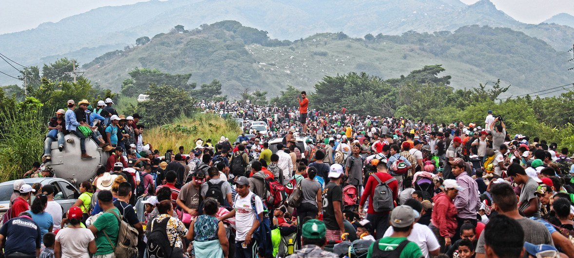 The first caravan of Central American migrants reached the town of Matías Romero in Oaxaca state on November 1, 2018. The Mexican Secretary of Foreign Affairs estimates that 4,000 people spent the night there.