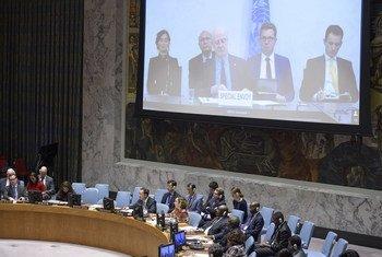 ستيفان دي ميستورا المبعوث الخاص للأمم المتحدة إلى سوريا يتحدث إلى مجلس الأمن