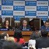 联合国秘书长古特雷斯在第八届联合国不同文明联盟全球论坛上致辞。