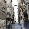 أحد شوارع حي الكرامة، في غرب جباليا في قطاع غزة.