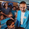 UNICEF supporter Millie Bobby Brown in New York on the set of a video produced for World Children's Day 2018.