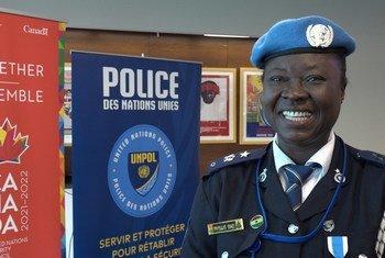 La Ghanéenne Phyllis Ama Tebuah Osei est la lauréate 2018 du Prix de la femme policier des Nations Unies.