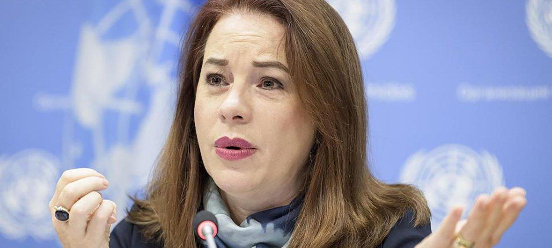 Resultado de imagen para presidenta de la Asamblea General de Naciones Unidas, María Fernanda Espinosa,
